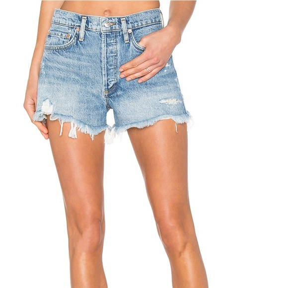AGOLDE Parker Vintage Cut Off High Rise Jean Short